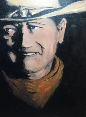 A Man's Man - Medium: Acrylic, Size: 16x12, Availability: Available
