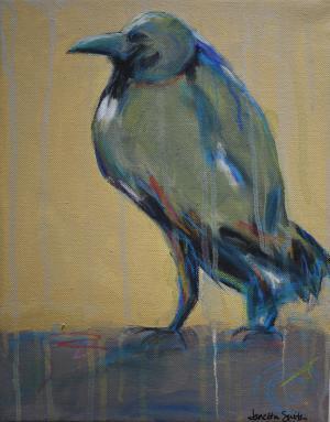 Buckingham Bird - Medium: Acrylic, Size: 11x14x1, Availability: Available