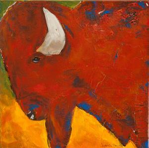 Bullish Thoughts - Medium: Mixed Media, Size: 12x12, Availability: Available
