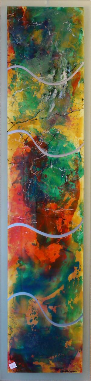 Bursting Free - Medium: Acrylic on Acrylic, Size: 12x50x.5, Availability: Available