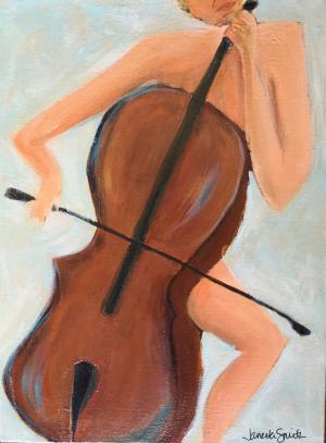 Cello in the Raw - Medium: Acrylic, Size: 12x16, Availability: Available