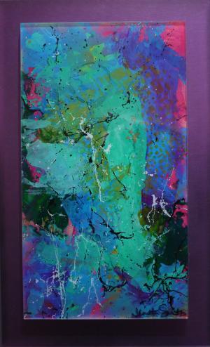Color Mist - Medium: Acrylic on Acrylic, Size: 9x14.5, Availability: Sold
