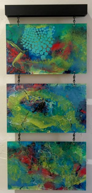 Color My Thoughts - Medium: Acrylic on Acrylic, Size: 13x30x1.5, Availability: Available