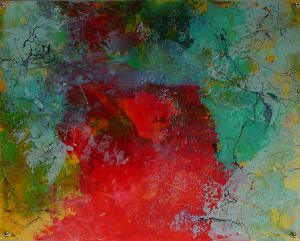Cosmic Dreams - Medium: Acrylic on Acrylic, Size: 16x20 (17.5x21.5 with metal back), Availability: Available