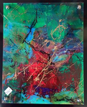 Deep Thoughts - Medium: Acrylic on Acrylic, Size: 9.5x11.5, Availability: Sold
