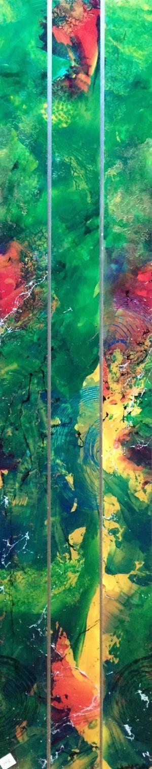 Eden - Medium: Acrylic on Acrylic, Size: 12x50x.5, Availability: Available