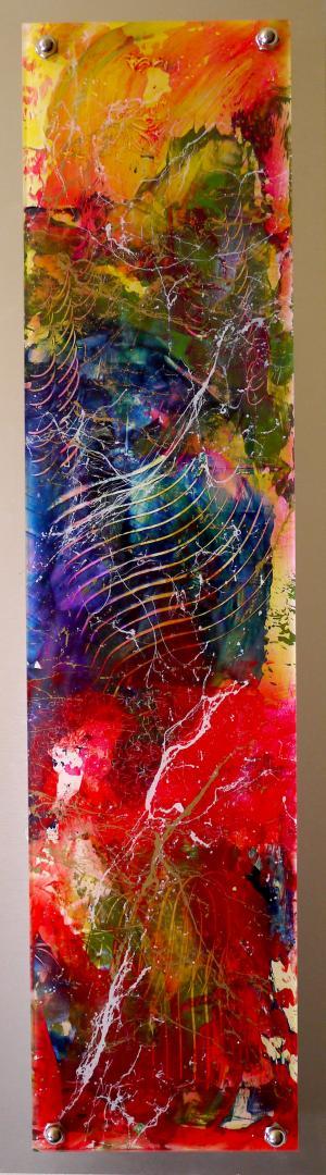 Elemental Fusion - Medium: Acrylic on Acrylic, Size: 24x7, Availability: Sold