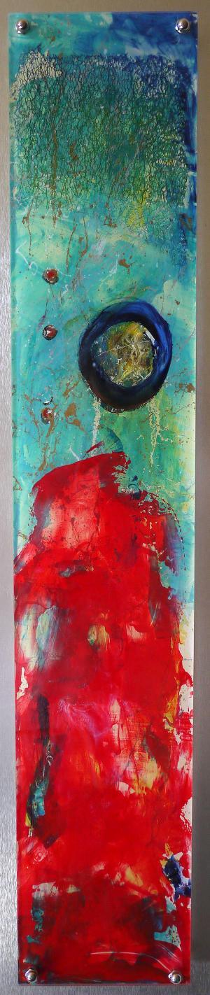 Flowing Time - Medium: Acrylic on Acrylic, Size: 33x7.25, Availability: Sold