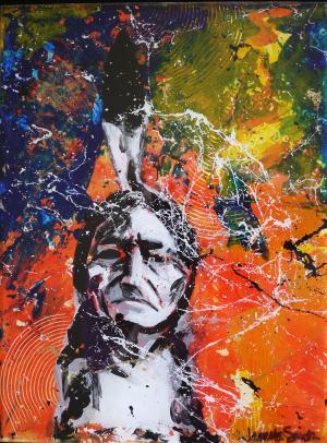 Hidden Feather - Medium: Acrylic on Acrylic, Size: 9x12x1.5, Availability: Sold