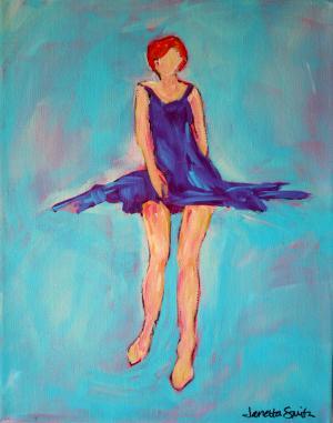 Legs in Purple - Medium: Acrylic, Size: 11x14, Availability: Available