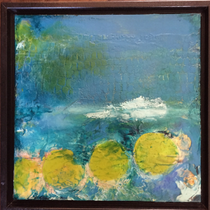 Lily Pads (Framed) - Medium: Mixed Media, Size: 8x8, Availability: Sold