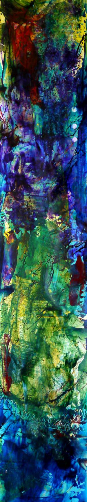 Midnight Jewel - Medium: Acrylic on Acrylic, Size: 32.75x6.25, Availability: Available