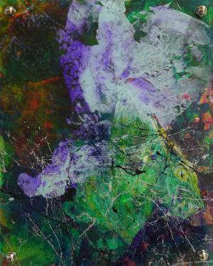 Purple Haze - Medium: Acrylic on Acrylic, Size: 9.5x11.5 (8x10 without metal back), Availability: Available