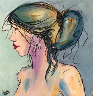 Shades of a Woman - Medium: Acrylic, Size: 14x14, Availability: Available