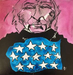 Study - American Original (Framed) - Medium: Acrylic, Size: 12x12, Availability: Available