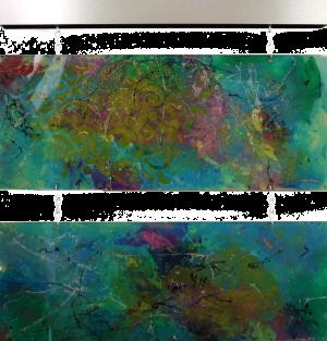 The Hanging Garden - Medium: Acrylic on Acrylic, Size: 20x21.5x1.5, Availability: Available