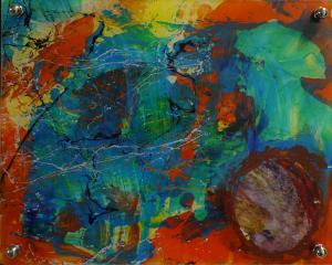Thunder Art - Medium: Acrylic on Acrylic, Size: 9.5x11.5 (8x10 without metal back), Availability: Sold