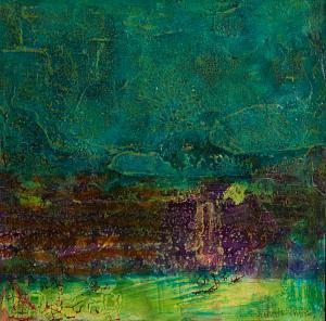 Turquoise Dreams - Medium: Mixed Media, Size: 12x12, Availability: Available