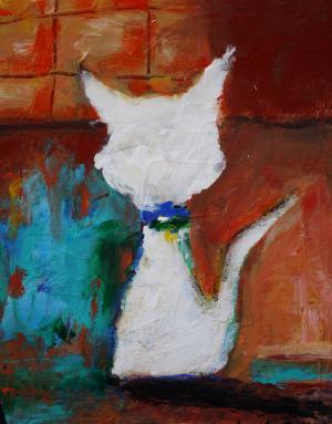 Cat Me Outside - Medium: Acrylic, Size: 8 x 10 x 1, Availability: Available