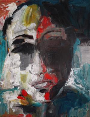 Hidden Identity - Medium: Acrylic, Size: 11 x 14 x 1.5, Availability: Available