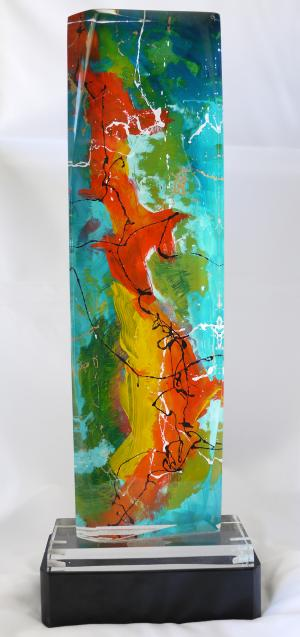 The Dolphin Dance - Medium: Sculptures, Size: 21 x 9 x 1.5, Availability: Available
